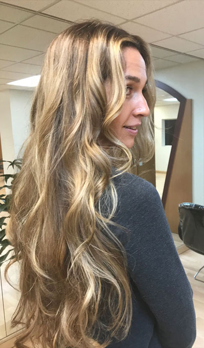 Long-hair balayage
